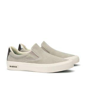 SEAVEES Hawthorn Slip On Sneakers Shoes Suede Grey